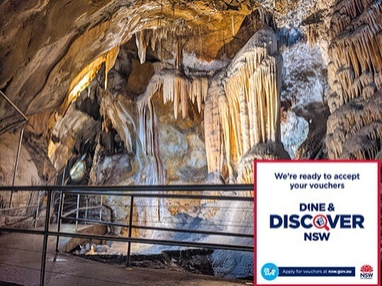 If you are a local, you can get a Chifley Cave tour for only $1 plus one Dine & DISCOVER voucher.