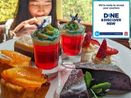 Mondays to Thursdays, you can redeem a free DINE & Discover voucher, worth $25, towards the cost of a special treat – decadent High Tea at Chisolm's Restaurant.