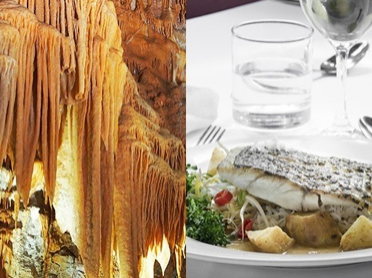 Leisurely Lunch & Cave Tour - What a memorable way to reconnect with family and friends! Maybe start a tradition! Enjoy a relaxing lunch in elegant Chisolm's Restaurant (SATURDAY & SUNDAY ONLY). Also, if you are of average fitness and mobility, experience a fascinating tour of our stunning Orient Cave, as part of a small group.  Tour info: No minimum age....1 hour....average fitness & mobility....358 stair steps....470 metres....maximum 12 people