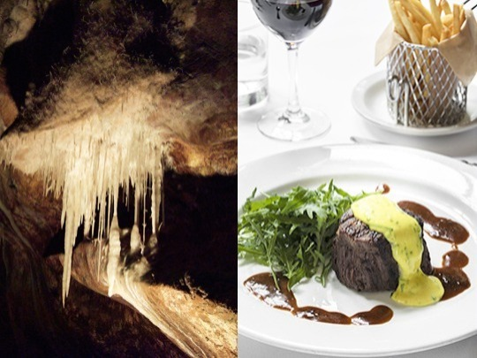 Enjoy a leisurely lunch in historic Chisolm's Restaurant (Sat & Sun only). Also, experience the Imperial cave, our easiest cave tour, as part of a small, very exclusive group. This tour now includes the delicate Diamond Branch, featuring pure pink and white crystal formations - your chance to see the famous 'Gem of the West'.  Tour info: no min age....1 hr....least strenuous....300 stair steps....1,070m....max 12 people