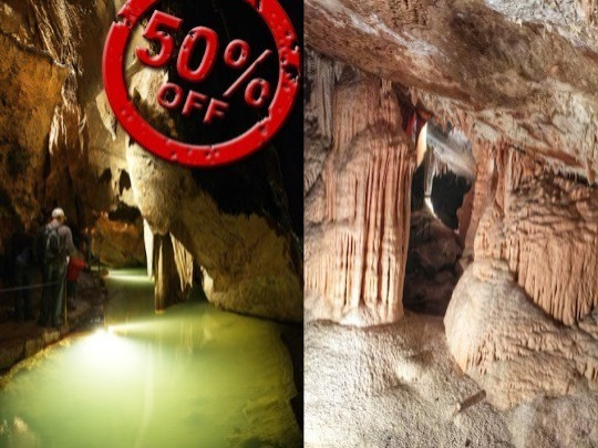 Pay full price for a 1.5 hour guided tour of the massive Lucas Cave, and get a 1 hour guided tour of the easier Imperial Cave for half price, on the same day or the next day. If you are of average fitness, this is a great way to experience these 2 very different caves.