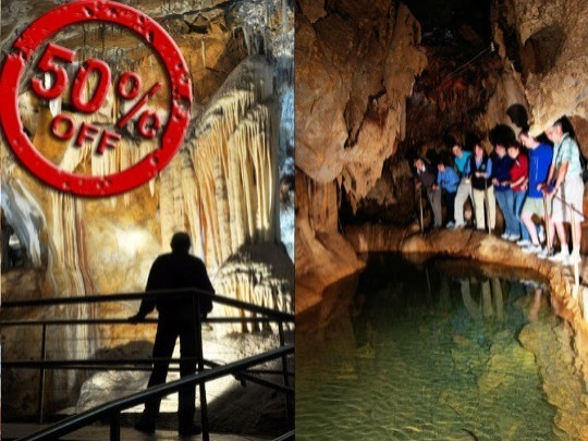 Pay full price for a 1 hour guided tour of the easier Imperial Cave, and get a 1 hour guided tour of the fascinating Chifley Cave (full of history and variety) for half price, on the same day or the next day. If you are of average fitness this is a great deal!