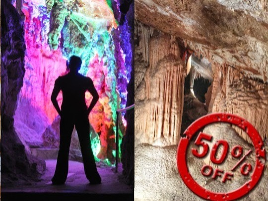 Pay full price for a 1 hour guided tour of the surprising Chifley Cave, and, on the same day or the next day, get a 1.5 hour guided tour of the massive Lucas Cave for half price. If you are of average fitness this is a great deal!